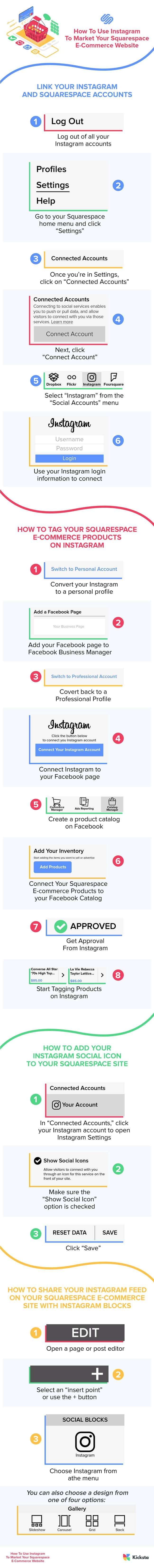 How To Use Instagram To Market Your Squarespace Site Infographic