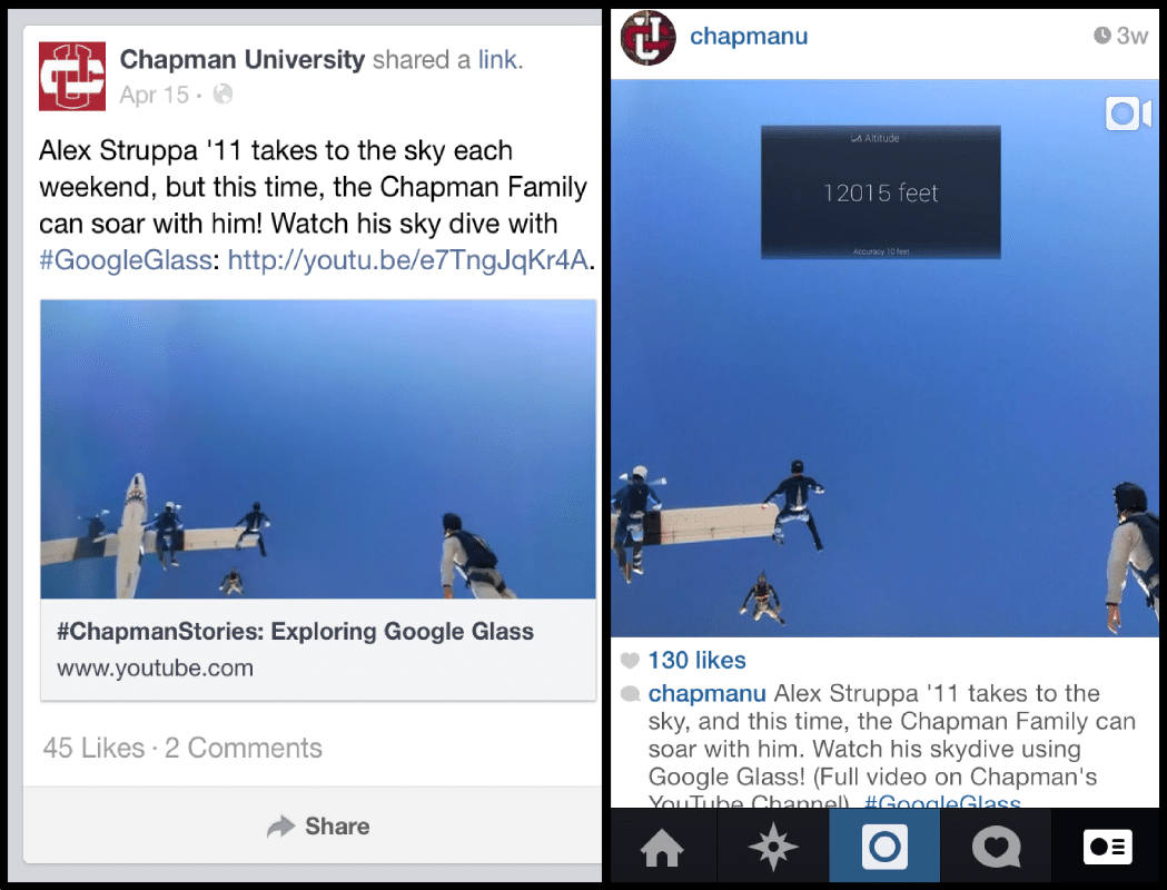 high quality instagram posts - champman univ