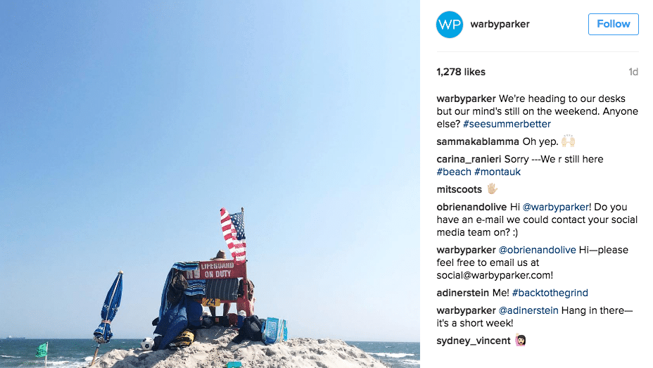 tips for writing an instagram caption - warby parker