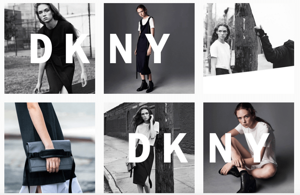 more innovative posts on instagram - dkny