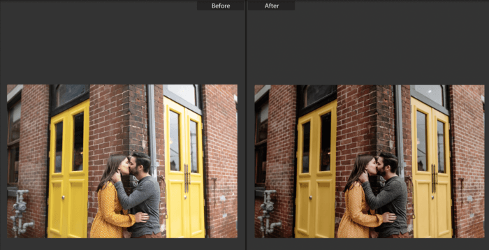 applying presets to an image