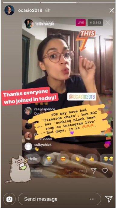 AOC Instagram live stream