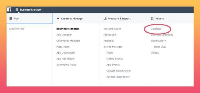 facebook business catalogs for squarespace e-commerce