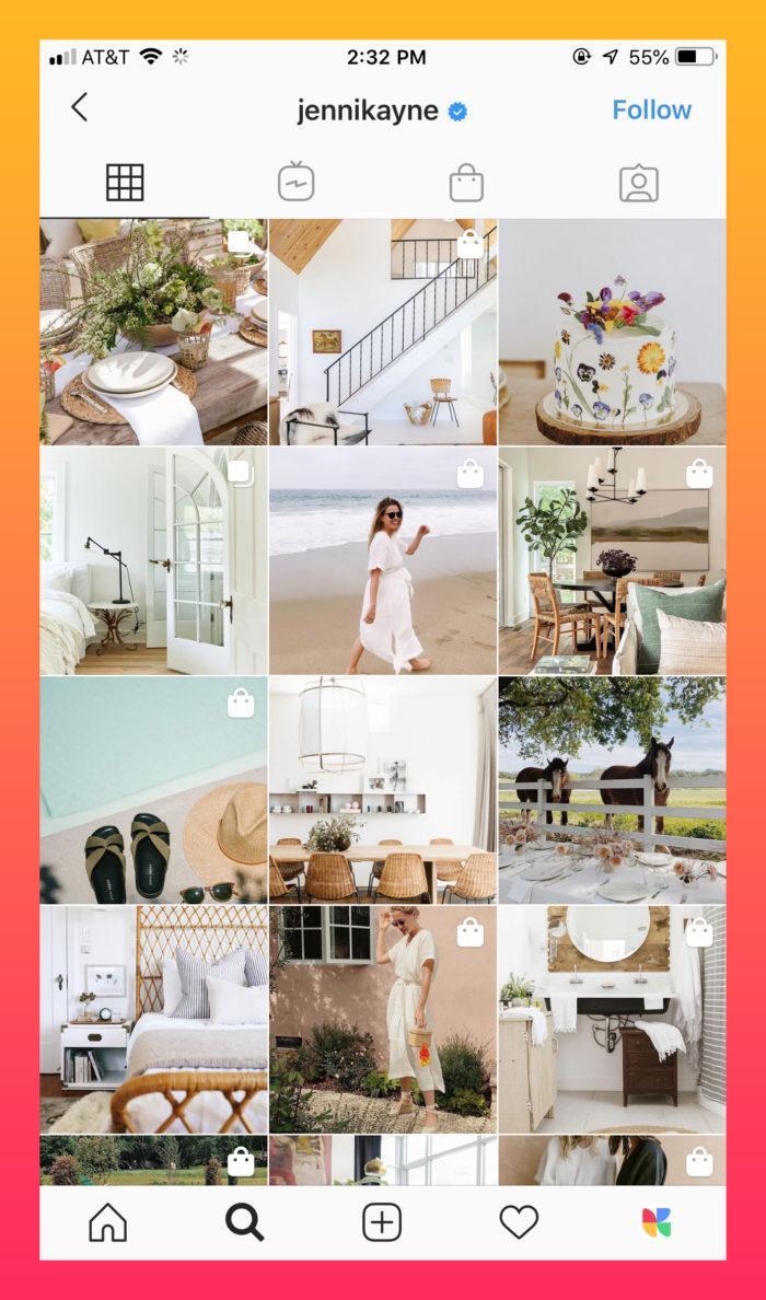 white minimalistic Instagram theme
