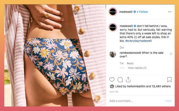 madewell Instagram caption