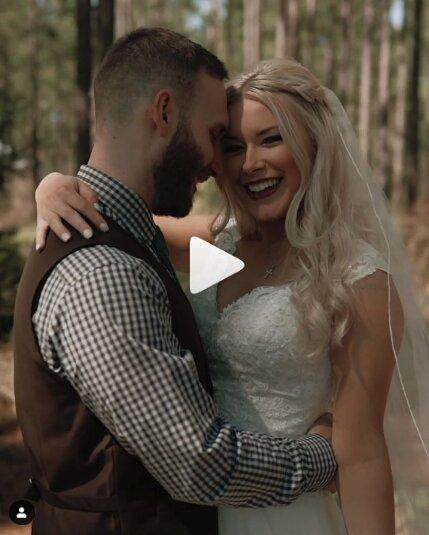 wedding caption example