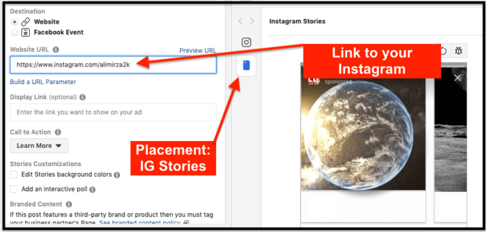 how to use Instagram story ads to grow followers