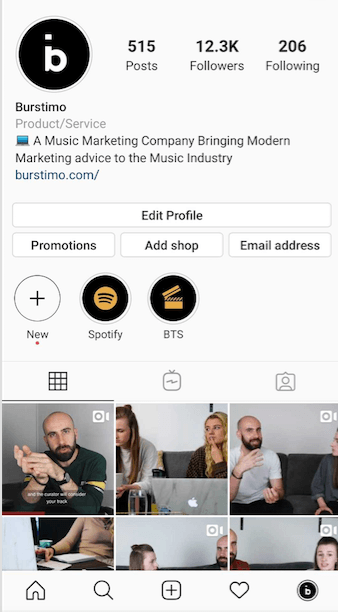 Burstimo Instagram