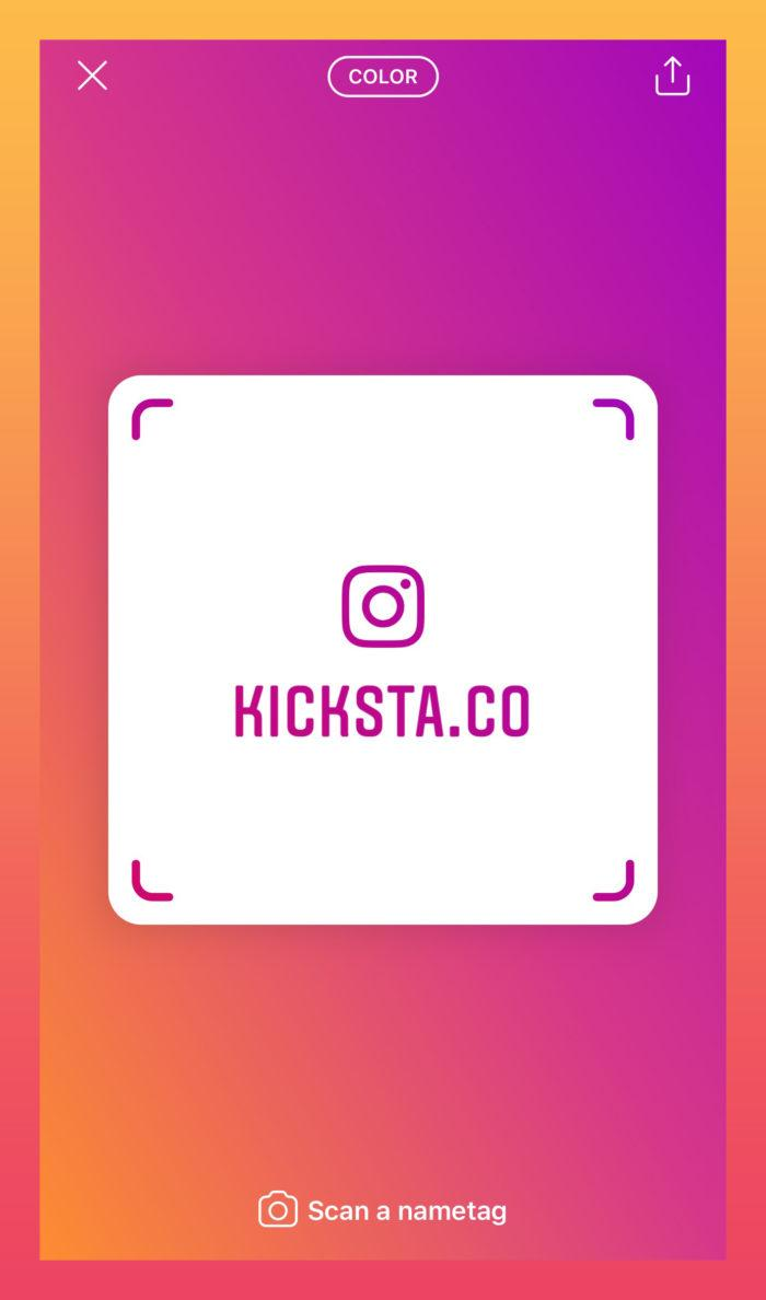 glossary of Instagram terms: nametag