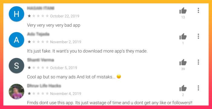reviews of followers app that takes your password