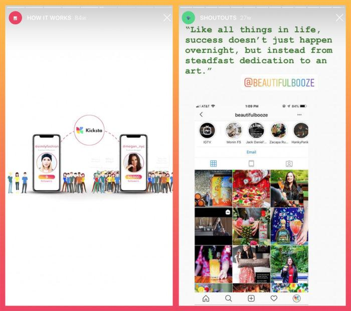 examples of Instagram story content