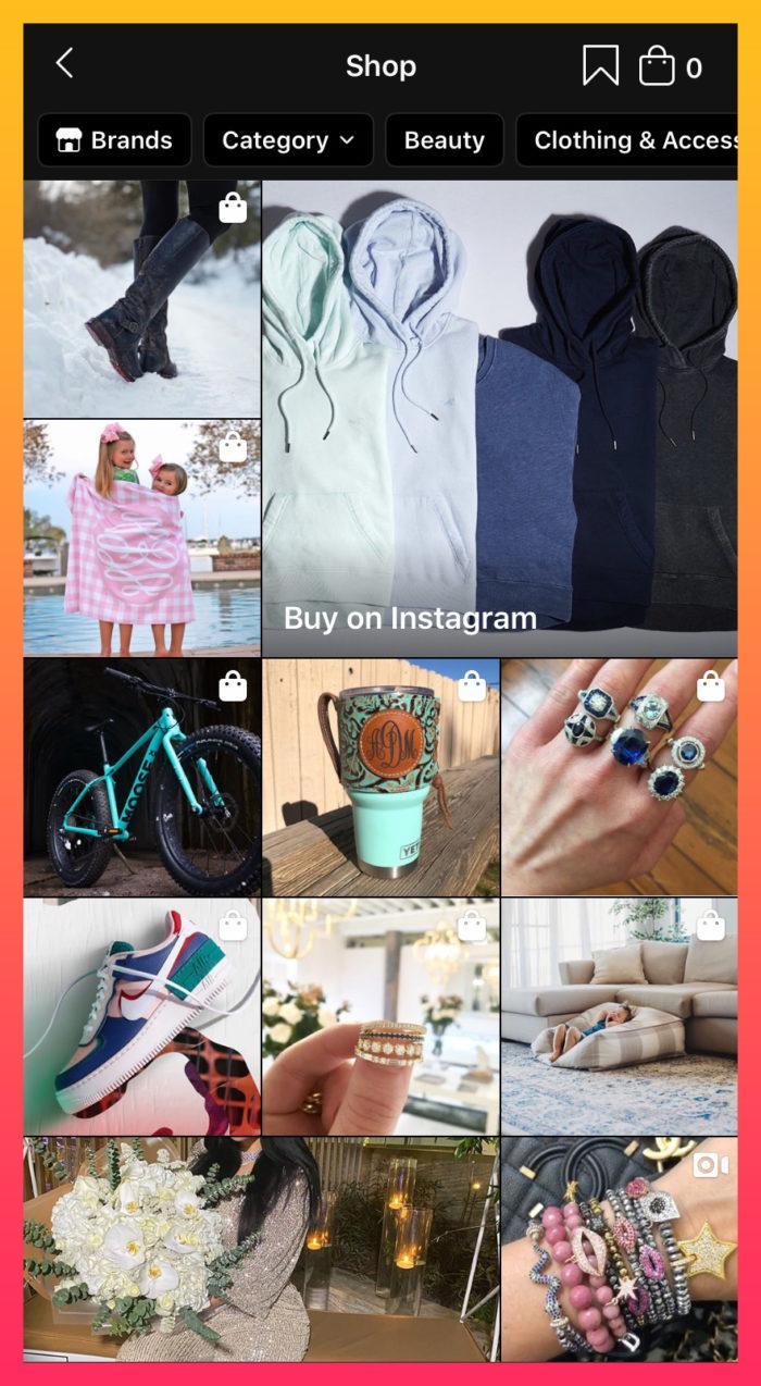 shoppable posts Instagram