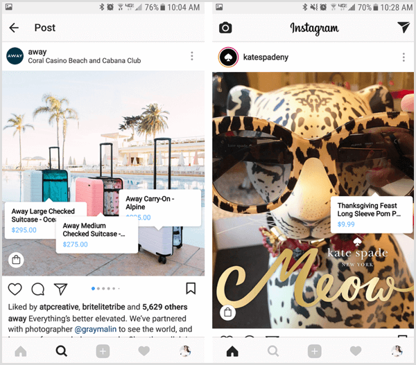 example of Instagram's Shoppable Posts