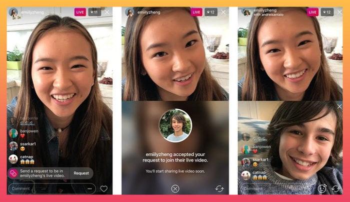 live video Instagram feature