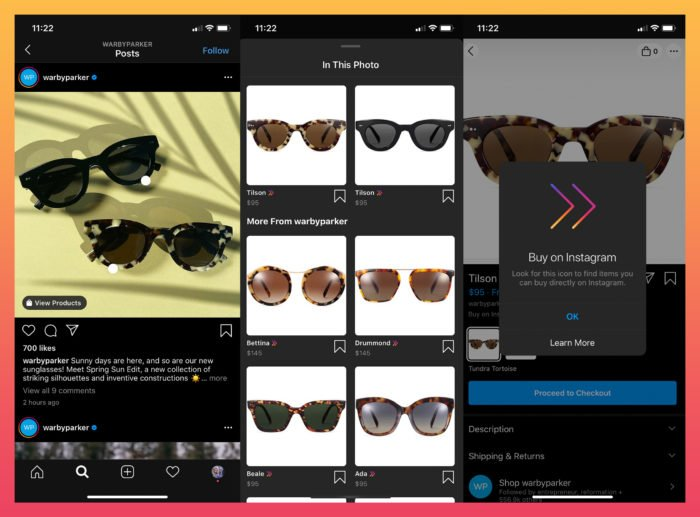 Instagram shoppable posts feature