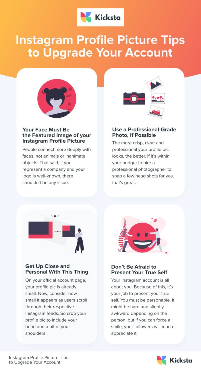 Instagram Profile Picture Tips Infographic