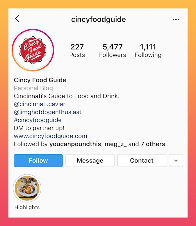 food related good Instagram bios