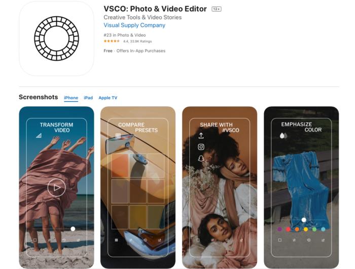 Instasize alternative: VSCO on desktop