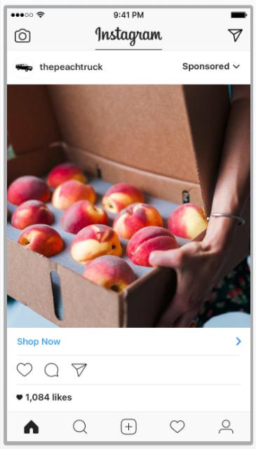 Instagram sponsored ads example