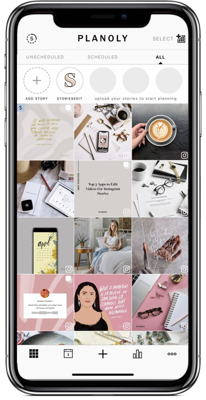 planoly- schedule Instagram content
