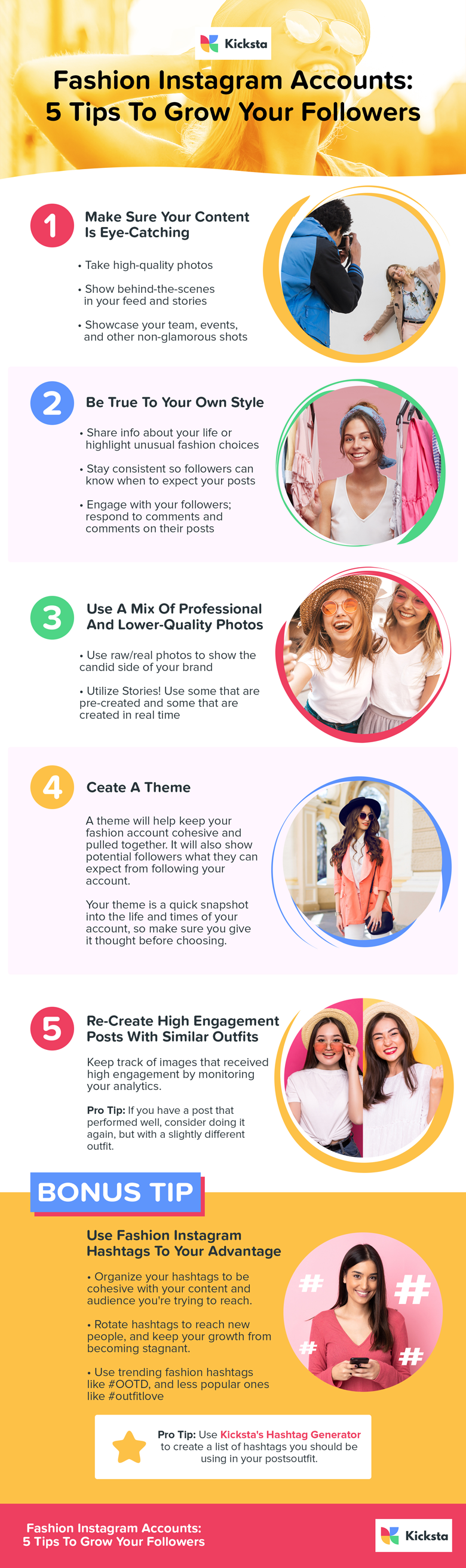 5 Tips To Grow Your Fashion Instagram Accounts Infographic