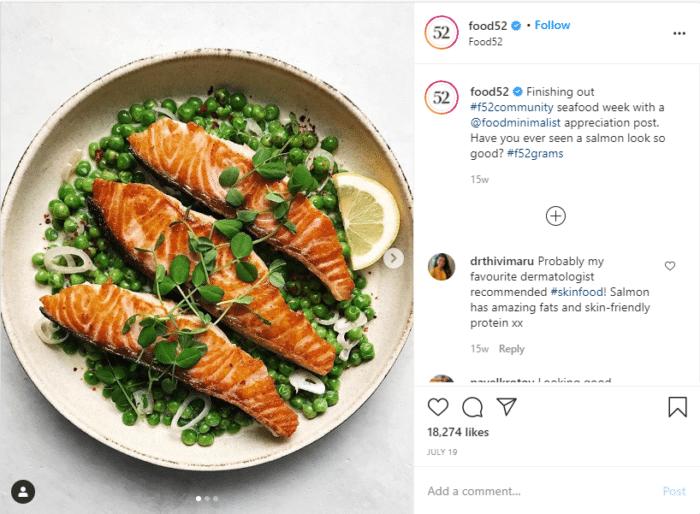 Instagram food blogger food52