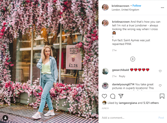 glossary of Instagram terms geotags