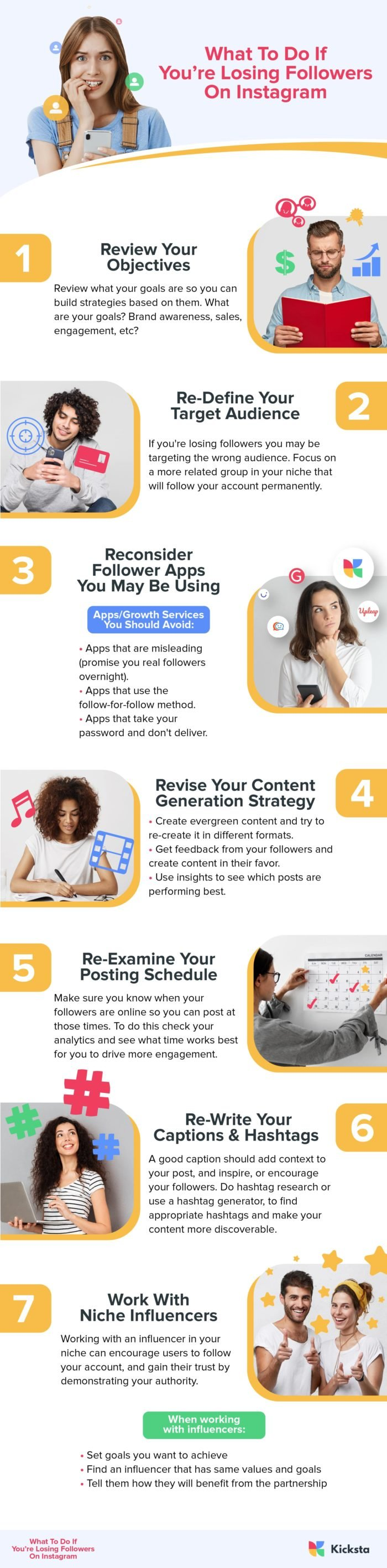 What To Do If You're Losing Followers On Instagram Infographic