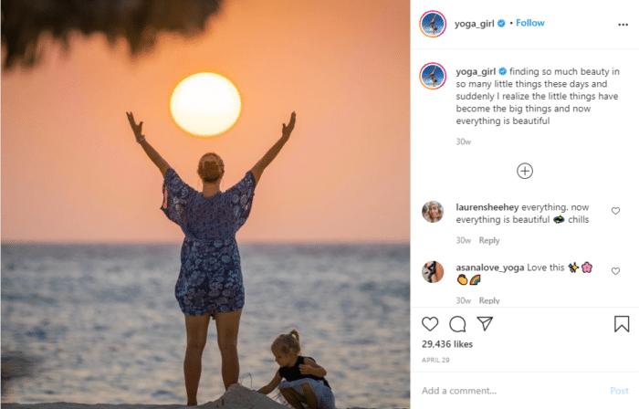instagram fitness yoga girl