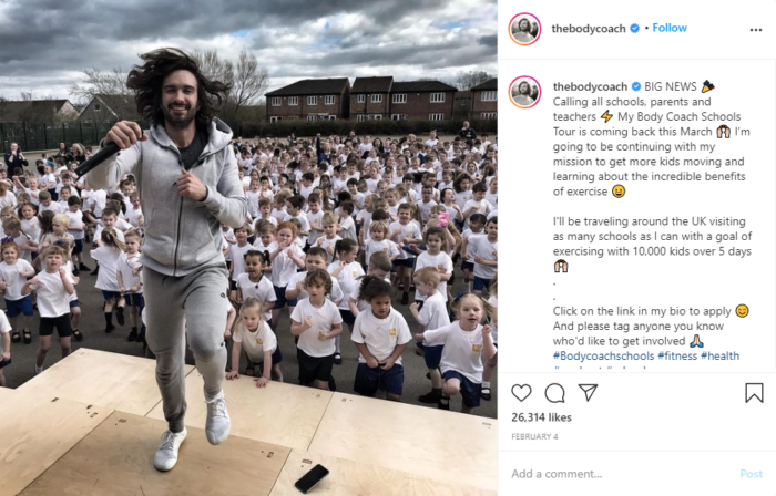 instagram fitness thebodycoach