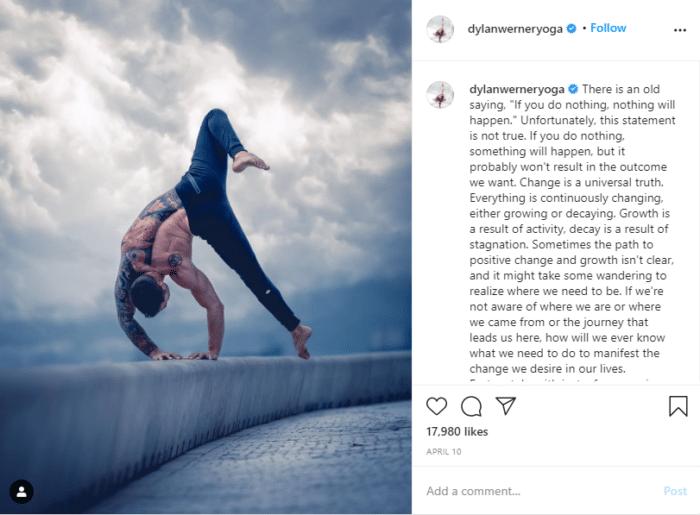 instagram fitness dylan yoga