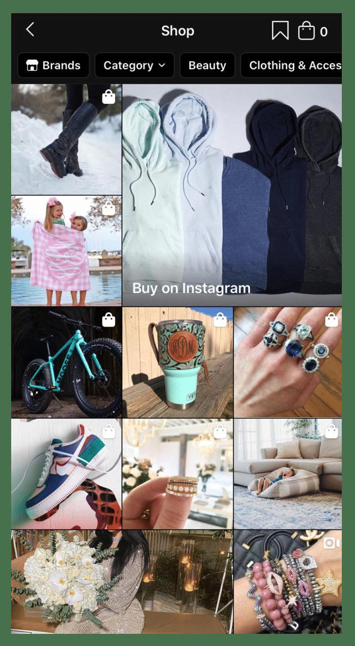 shop Instagram statistics
