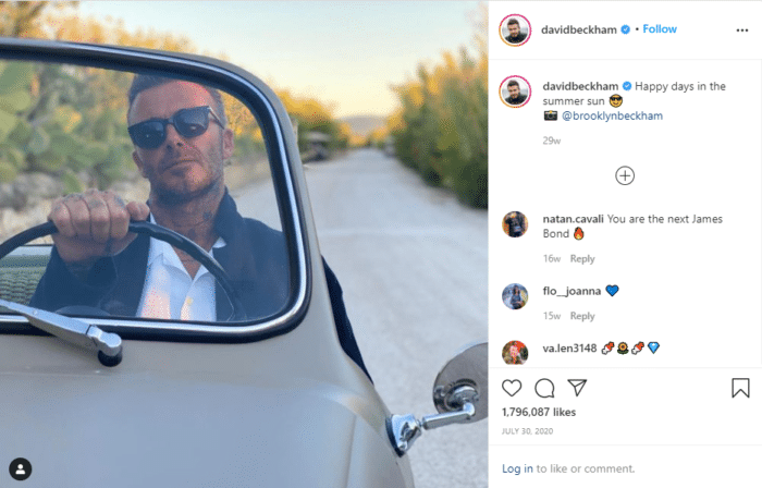 david beckham who has the most followers on instagram