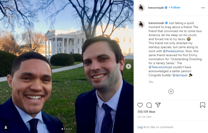 trevor noah who has the most followers on instagram
