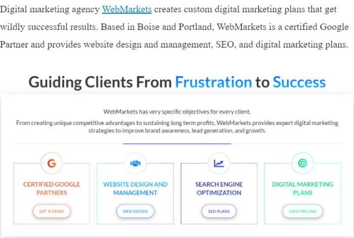 Web Markets