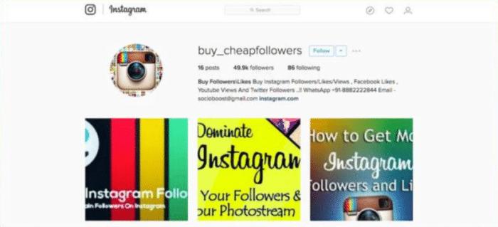 buying followers