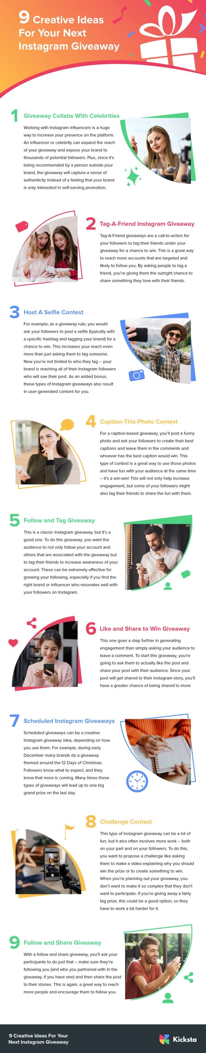 Creative ideas for your next Instagram giveaway infographic