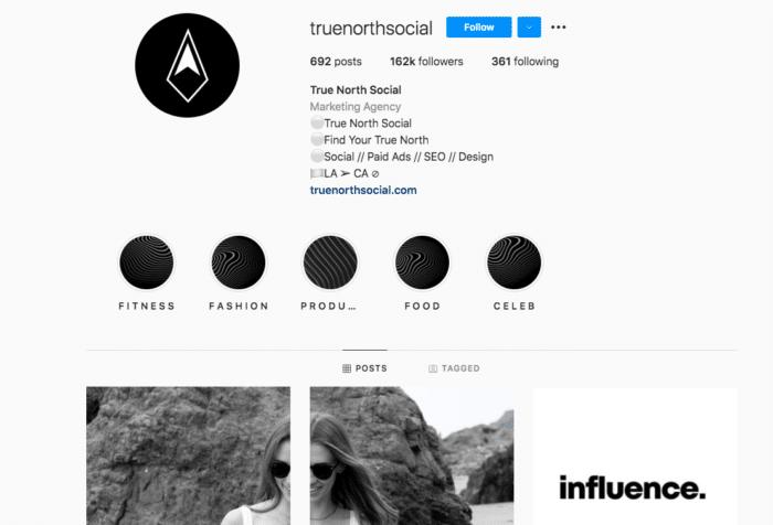 true north social instagram account