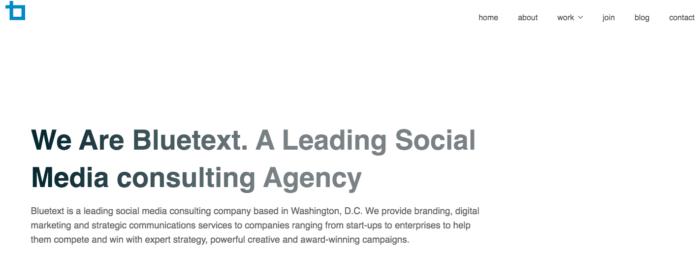 Bluetext social media agency