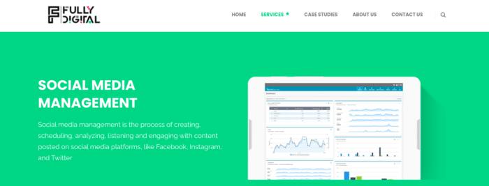 Fully digital social media management