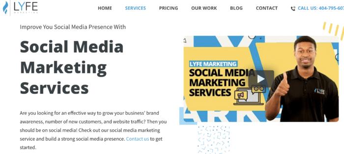 lyfe marketing social media management company
