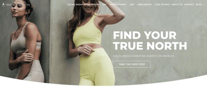 True North Social homepage